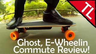 Ghost, E-Wheelin, Mini Electric Skateboard: Commute Review!