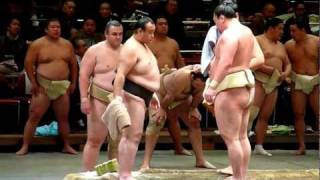 2011年12月23日(金)、平成24年初場所前の公開稽古総見に行ってきました...