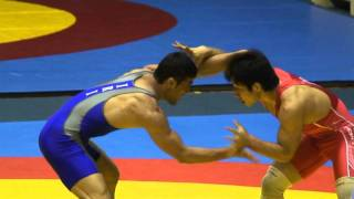 Freestyle Wrestling - Iran vs. Korea 74 kg Match (114521)