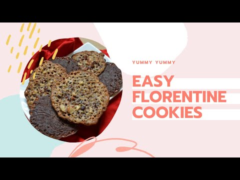 Easy Florentine Cookie Recipe | How to Make Chocolate Lace Cookies