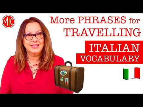 More PHRASES for TRAVELLING   LEARN ITALIAN VOCABULARY