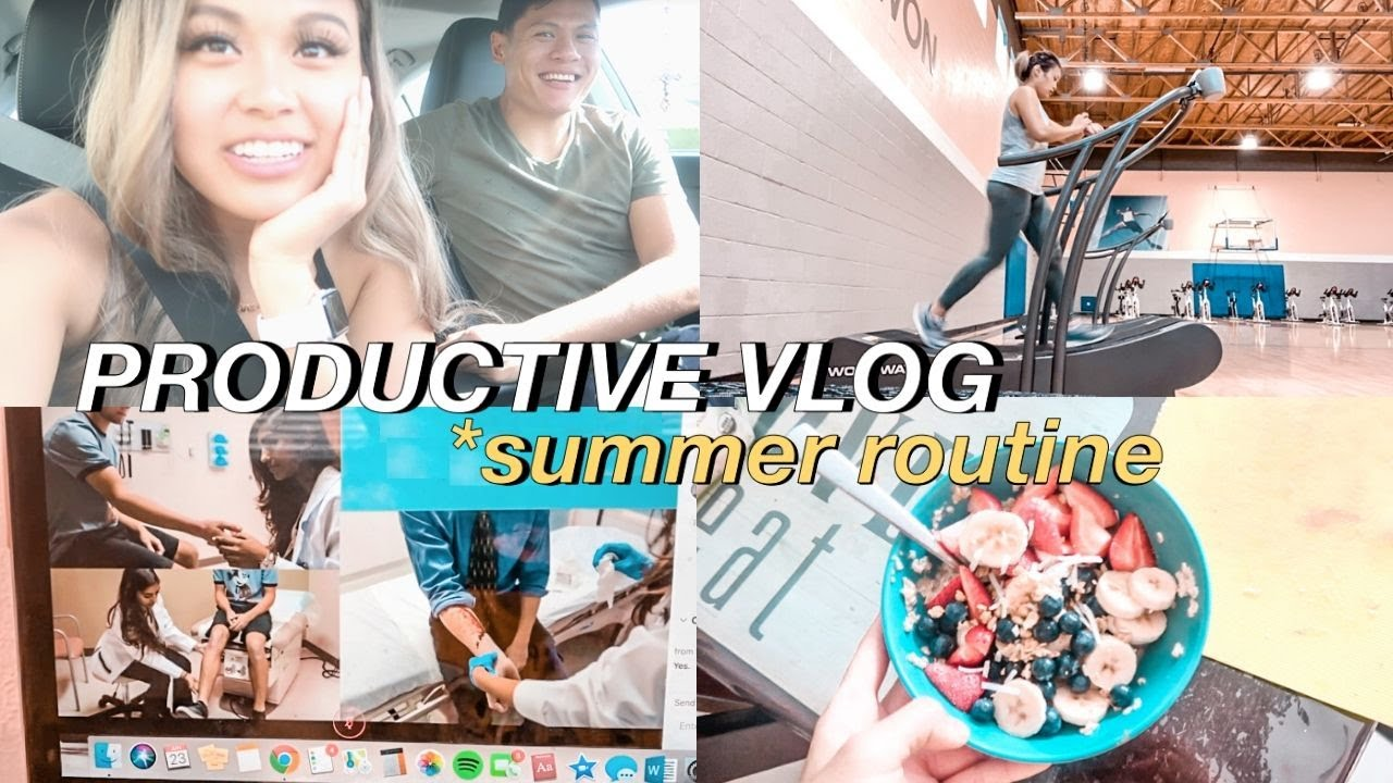 PRODUCTIVE SUMMER VLOG | zoom meetings, workouts + korean chicken