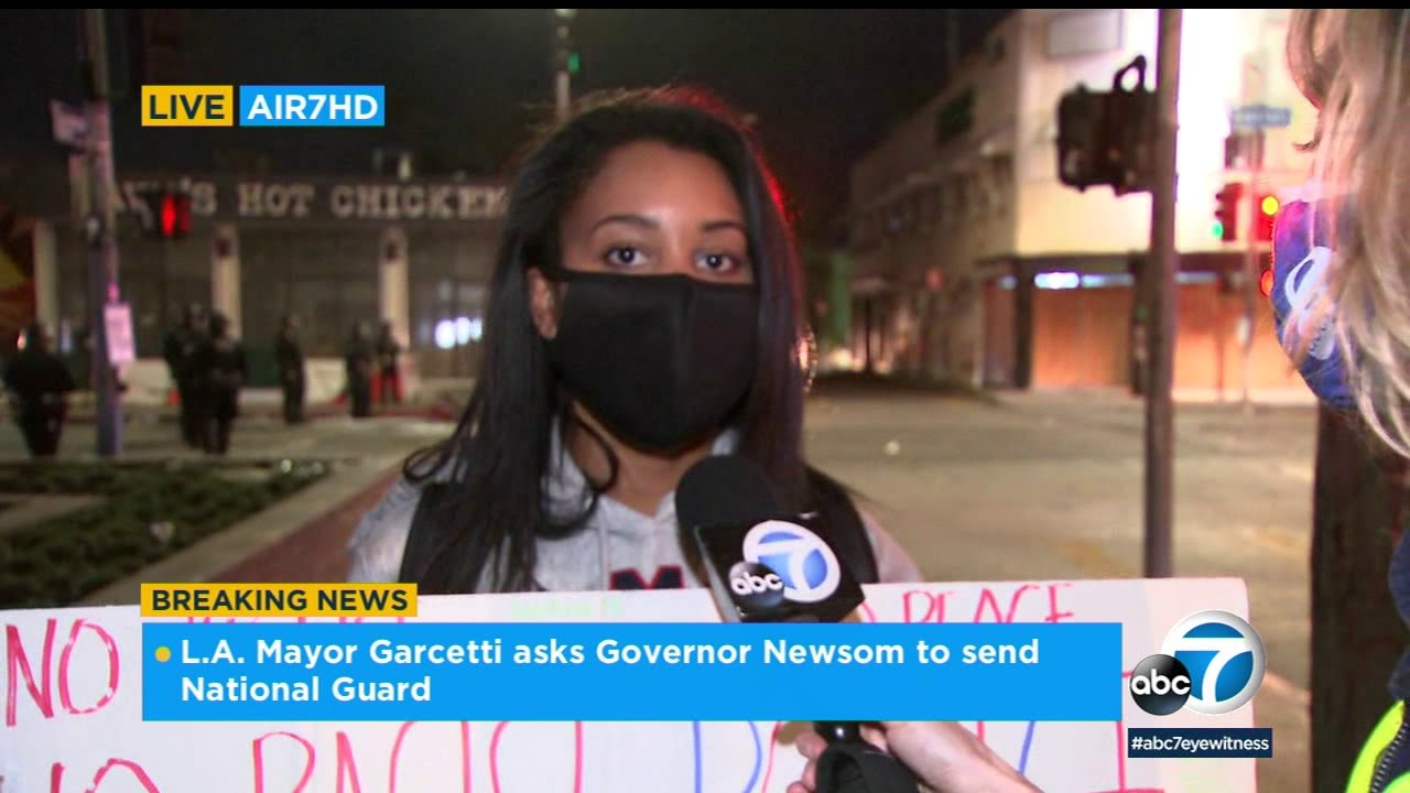 'This is how we feel every day' - protester compares violence in LA to ...