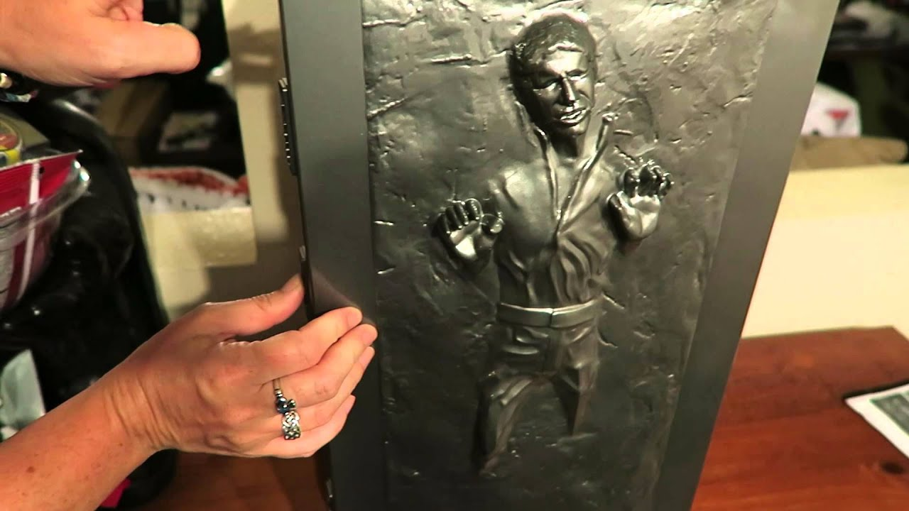 Han Solo Is Frozen In Carbonite On My Fridge - YouTube