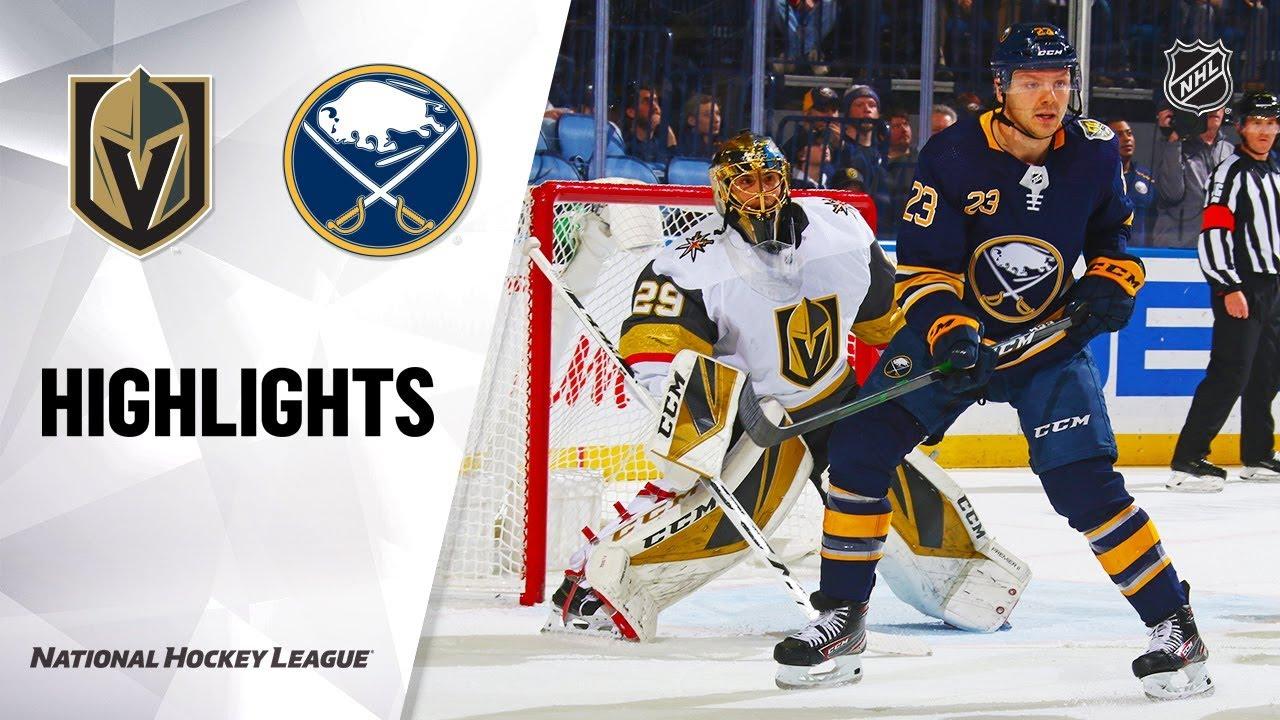 NHL Highlights | Golden Knights @ Sabres 1/14/20