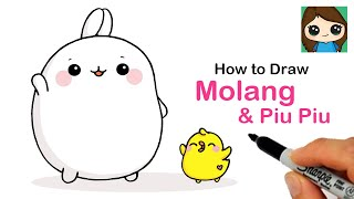 How to Draw Molang and Piu Piu