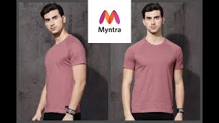 Roadster Men Pink Solid Round Neck T-shirt Myntra Unboxing