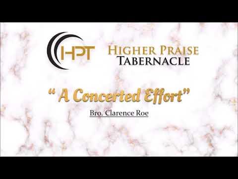 A Concerted Effort | April 18, 2018 | Wednesday