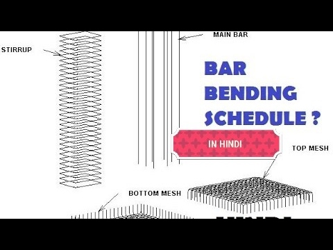 CIVIL ENGINEERING BAR BENDING SCHEDULE--REINFORCEMENT CALCULATION ? ((HINDI)