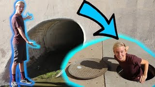 I GOT STUCK IN A STORM DRAIN! + KICKED OUT OF TARGET!