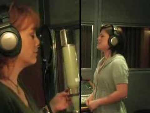 Reba and Kelly in the Studio