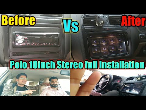 Polo Android Stereo installation \\Polo Upgrade 10Inch stereo\\Fully Wiring in Polo 2GB Stereo
