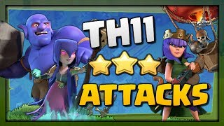 Clash of Clans | TH11 3 Star Attack Strategies! BoWitch and Lavaloon in CoC War 2017!