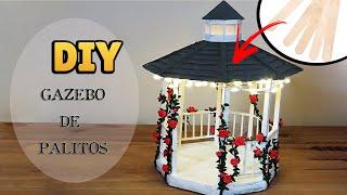 Faça Gazebo Vintage com Palito de Picolé e Papelão