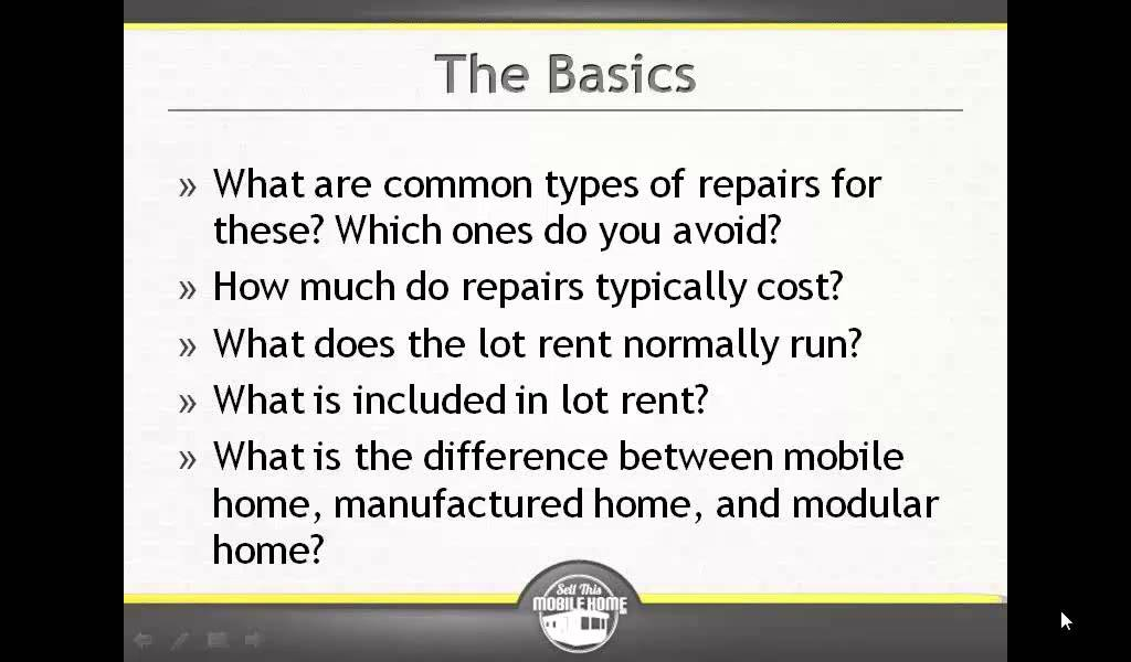 How Much Do Mobile Homes Cost how much do mobile home repairs cost? - youtube