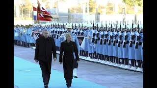 Cumhurbaşkanı Erdoğan, Hırvatistan Cumhurbaşkanı Kitaroviç'i resmi törenle karşıladı