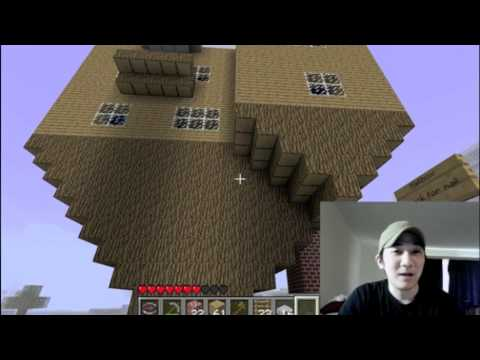 Minecraft Upside Down House & How is 1.7? - YouTube
