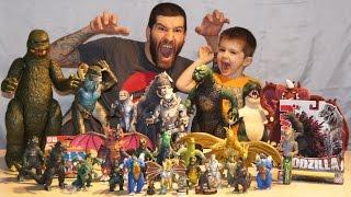 GIANT Godzilla Kaiju Monster Toy Collection King Ghidorah Destroyah RARE Nesting Dolls TOHO Kids
