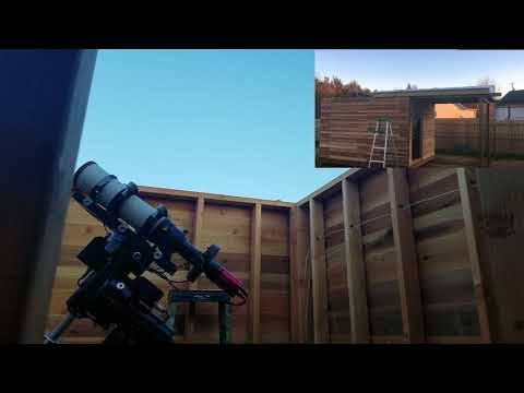 Back yard observatory roll off roof : arduino
