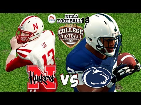 NCAA Football 18 🏈  Nebraska vs. (10) Penn State!!! Saquon Barkely's Revenge Game!!!