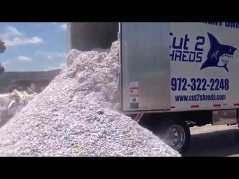 Waste Recycling Process With Shredded Paper