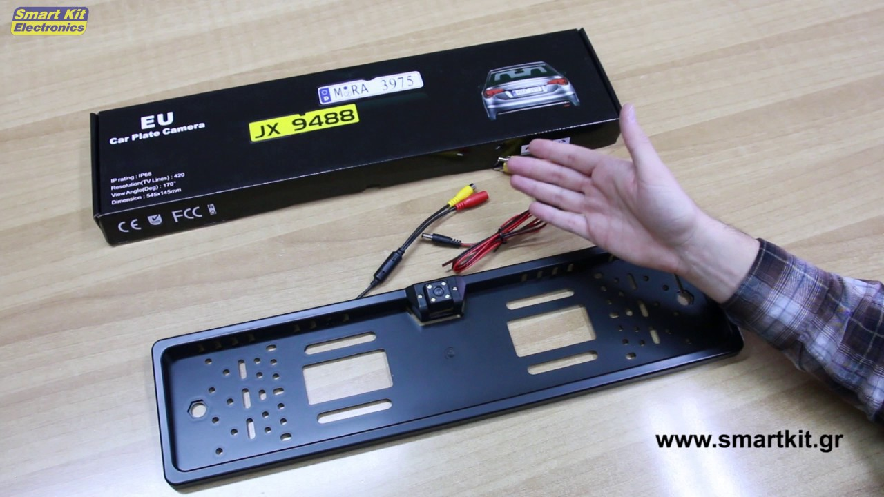 Κάμερα οπισθοπορείας με βάση για πινακίδα αυτοκινήτου - μόνο με 39 ... b77a73501bc