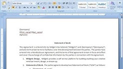 Statement of Work  ( SoW )