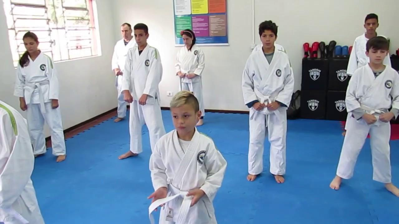 Karate Shubudo - Equipe Jetam - Aula de programa de faixa Branca