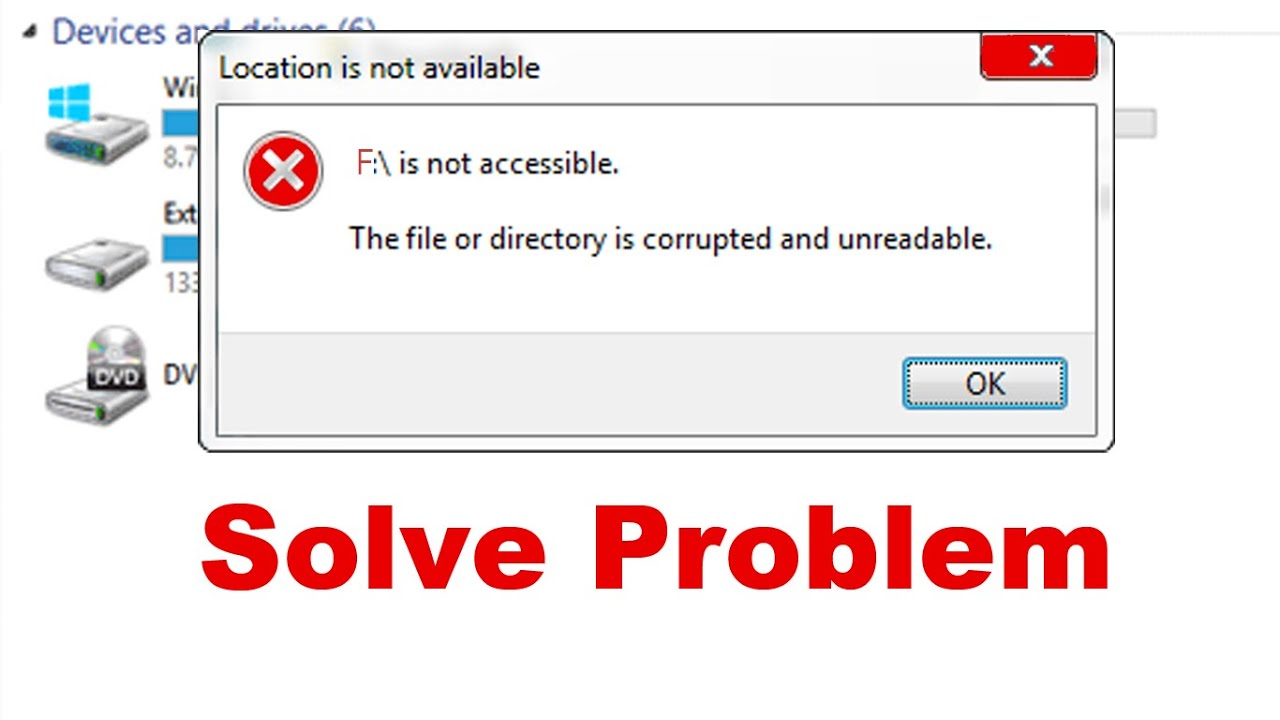 windows cannot recover master file table chkdsk aborted
