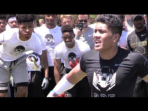 🔥🔥 Nike Football Opening Regionals | Oakland | LB vs RB - 1v1s | 2017