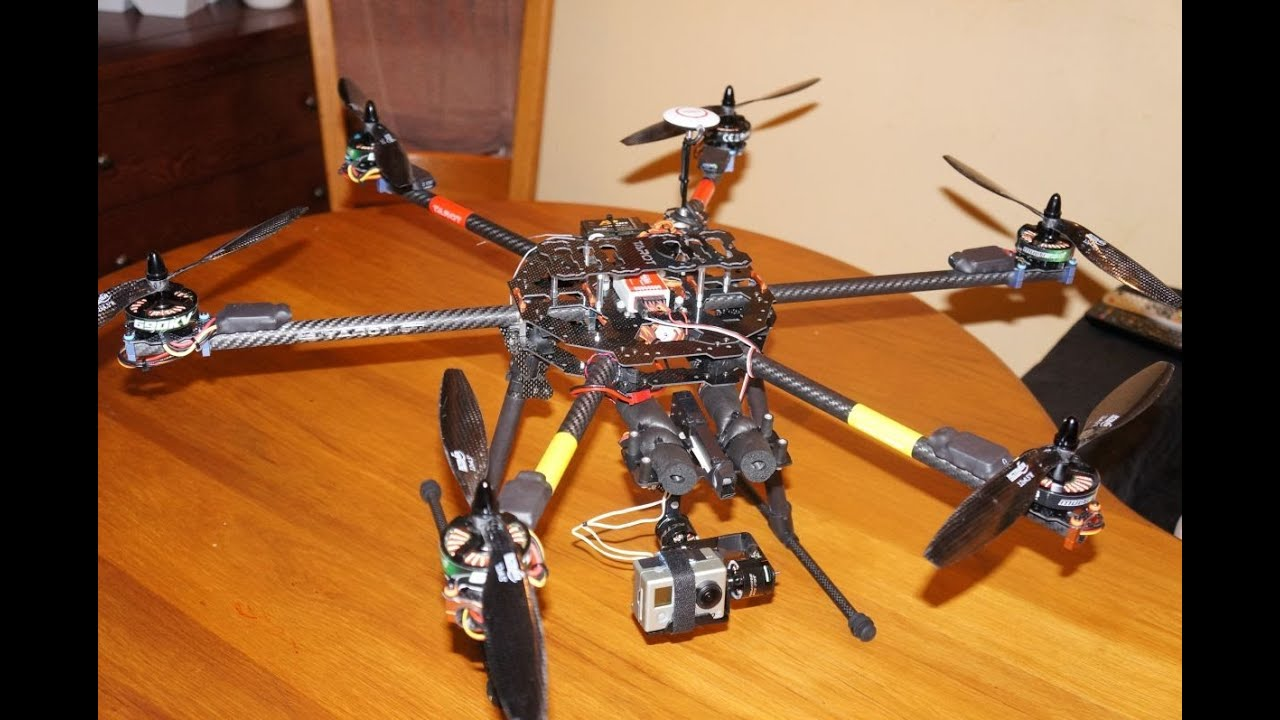 Hexacopter Tarot FY 680 Heavy lift test and Crash - YouTube