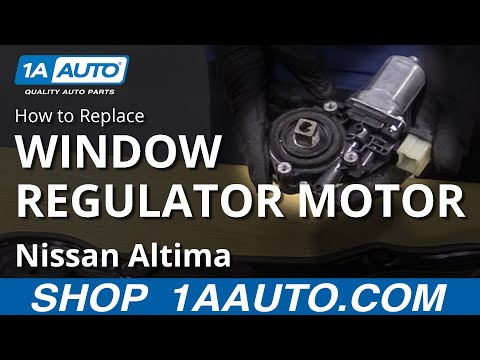 How to Replace Window Regulator Motor 07-12 Nissan Altima