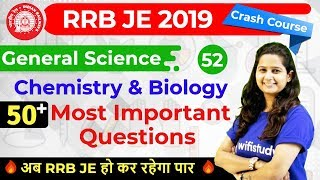 9:30 AM - RRB JE 2019 | GS by Shipra Ma\'am | 50 Most Important Questions