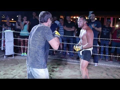 WILD Russian BEAR vs MMA Fighter !!! Good Fight !!!