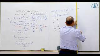 مادة الرياضيات للصف السادس الاعدادي : التحدب و التقعر والانقلاب الجزء الثاني