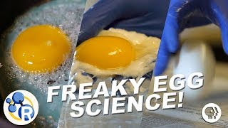 """Cook"" an Egg with No Heat!? (Egg-cellent Weird Science Experiments)"