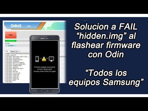 Solucionar FAIL al flashear firmware con Odin