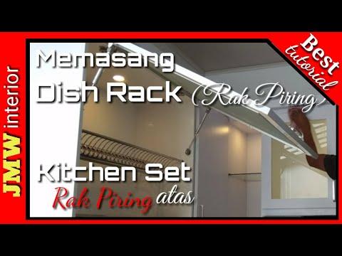 Memasang Dish Rack Rak Piring Kitchen Set Atas Full Tutorial