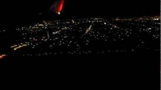San Diego night view from South West Airlines, California, USA :: Video by Arun Kumar B on Dec 2011