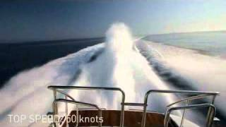 Mangusta yacht charter: world fastest Mangusta yacht running at 50 kts