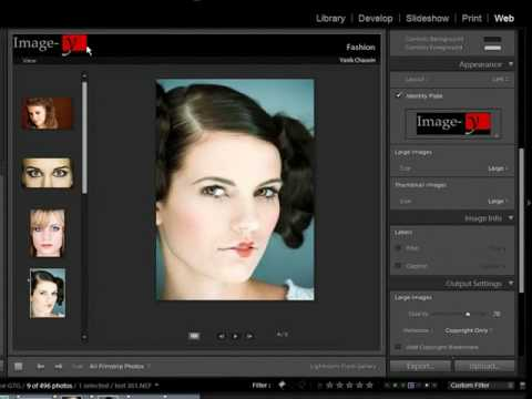 How to Create a Web Photo Gallery - Lightroom Video Tutorial