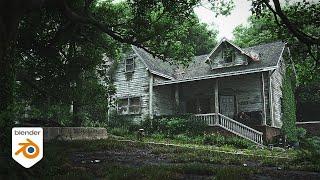 How to make aฑ abandoned house in Blender - Tutorial