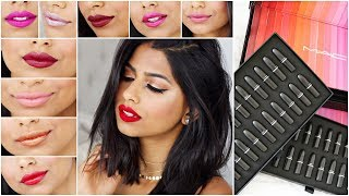 Trying out 48 MAC LIPSTICKS under 10 minutes! + GIVEAWAY!