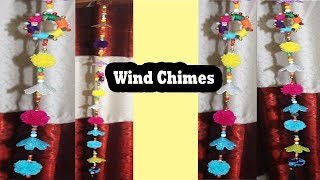 DIY Wind Chimes || How to make Wind Chimes Using Woolen  || Beautiful Wind Chimes Using Woolen