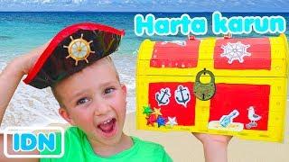 Anak anak Menemukan Video Harta Karun Bajak Laut untuk anak anak dari Vlad dan Nikita