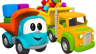 Çocuklar için Leo kamyon - büyük kamyon. Araba ile çocuk filmiydi.