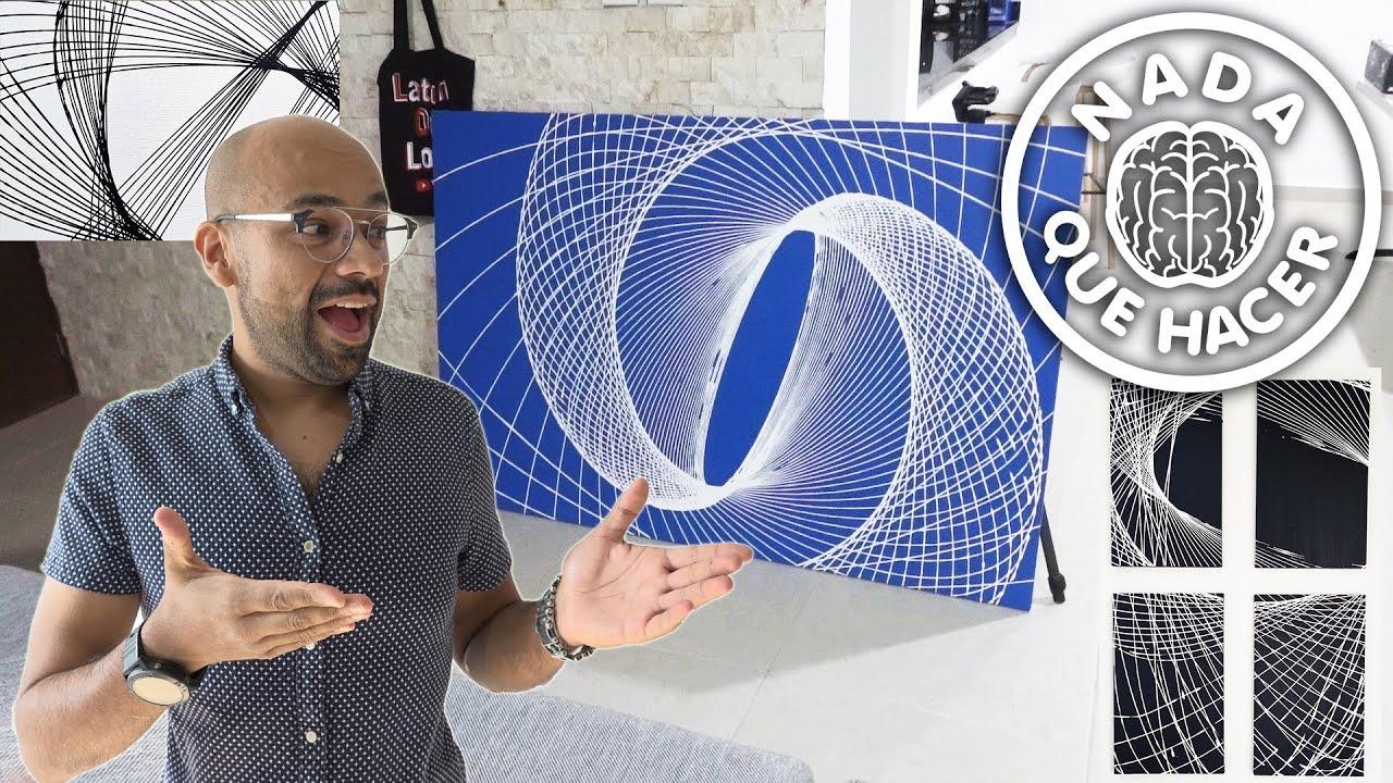 Péndulo de pintura casero, Increíble arte geométrico  NQUEH