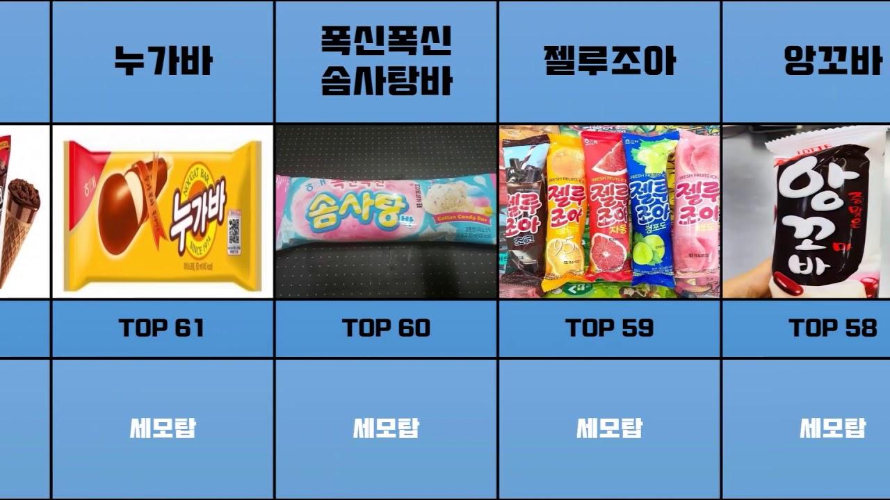 한국인이 좋아하는 아이스크림 TOP100   안 먹어 봤으면 간첩   세상의 모든 TOP 100