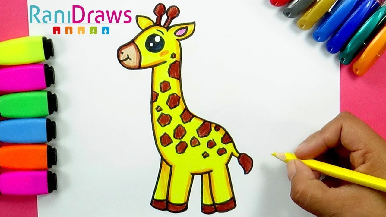 How To Draw A Cute Giraffe Como Dibujar Una Jirafa Kawaii Youtube