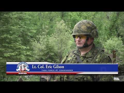 Danish Soldiers Build Bridge in South Dakota